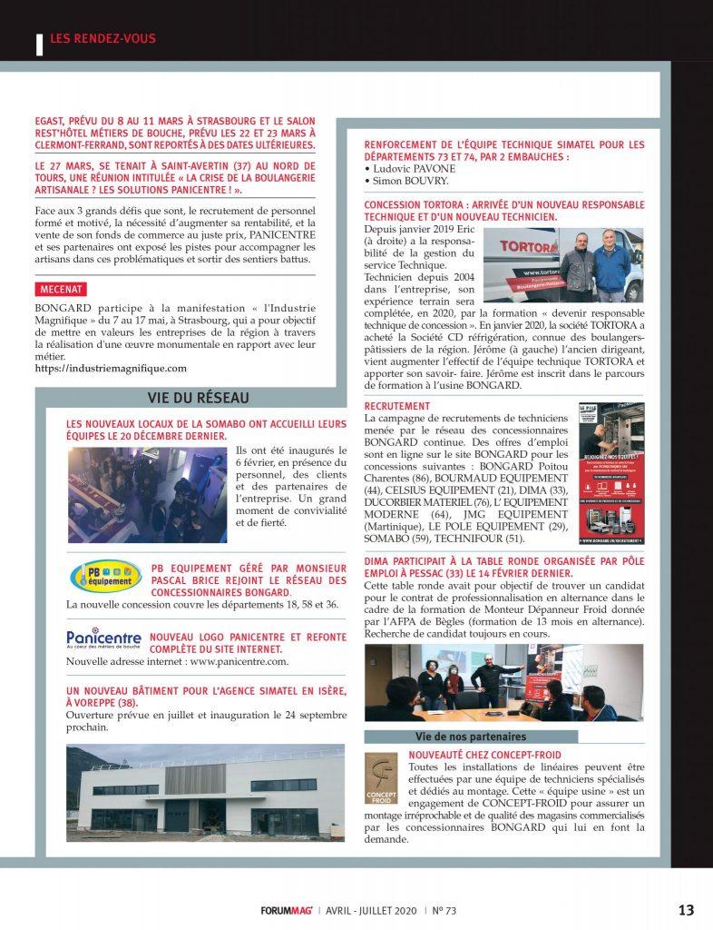 Extrait Forum Mag Bongard - Presse spécialisé boulangerie patisserie